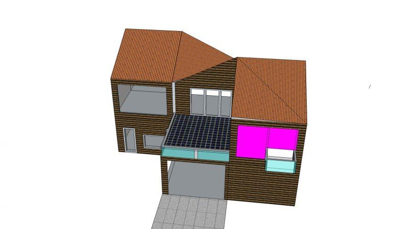 Xây dựng nhà 2 tầng mái thái hiện đại