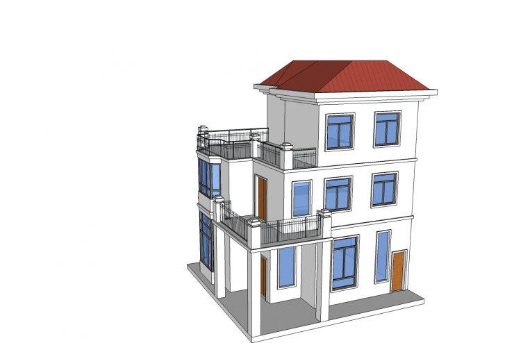 Xây dựng nhà với mẫu thiết nhà phố 3 tầng phong cách hiện đại