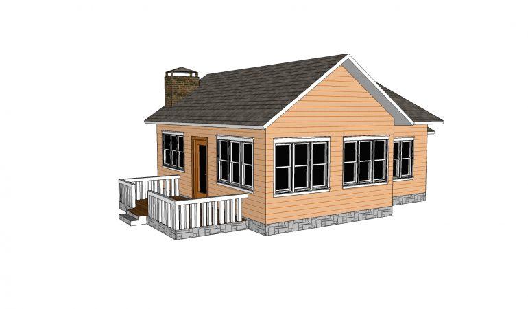 Xây dựng mẫu nhà cấp 4 mái thái 2 phòng ngủ