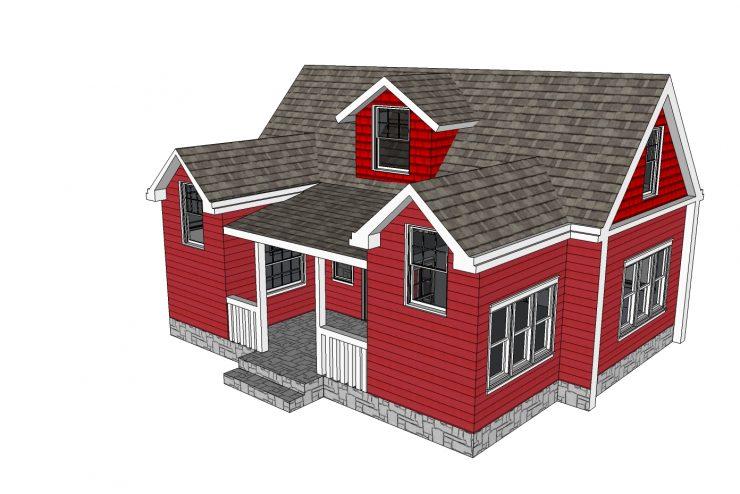 Xây dựng nhà với mẫu thiết kế nhà cấp 4 , 3 vòm mái thái