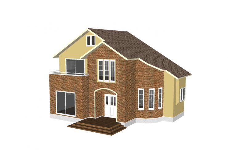 Xây dựng nhà với mẫu thiết kế hiện đại 2 tầng