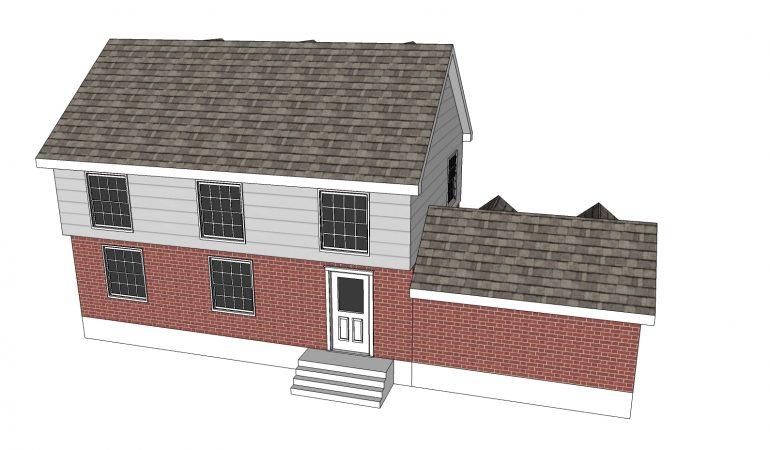 Mẫu thiết kế nhà 3 tầng đẹp gắn với gara và kho