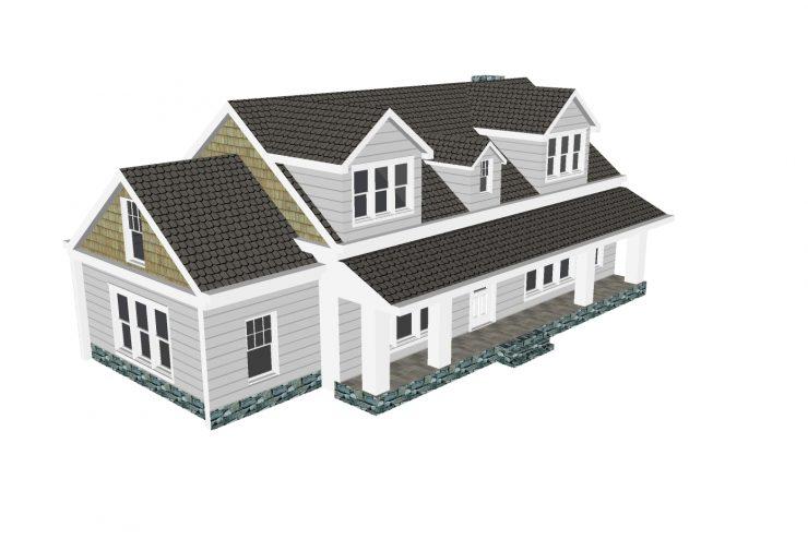 Xây dựng nhà với thiết kế nhà ống 2 tầng