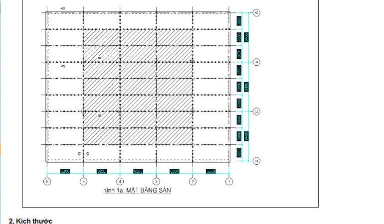 Bảng mẫu tính toán tải trọng công trình xây dựng