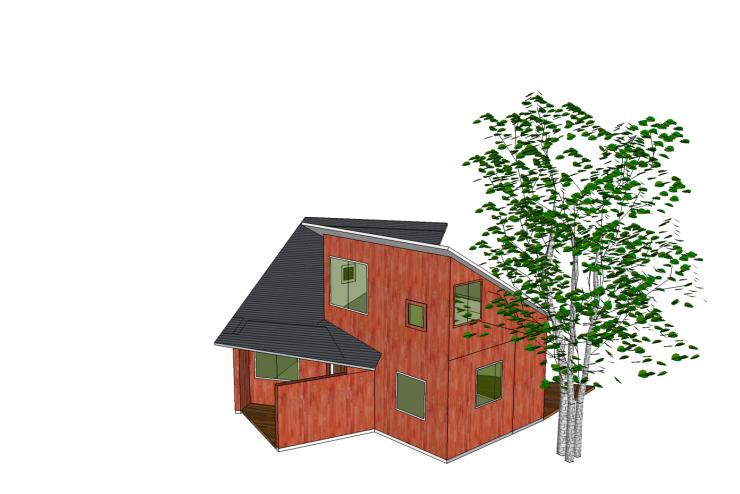 Xây dựng nhà với mẫu thiết kế mái nhà đặc biệt