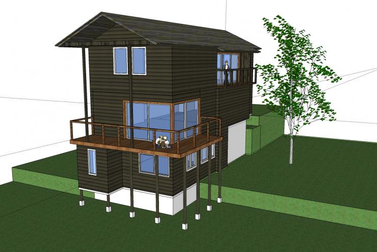 Xây dựng nhà với mẫu nhà sàn đẹp, kiến trúc đặc biệt