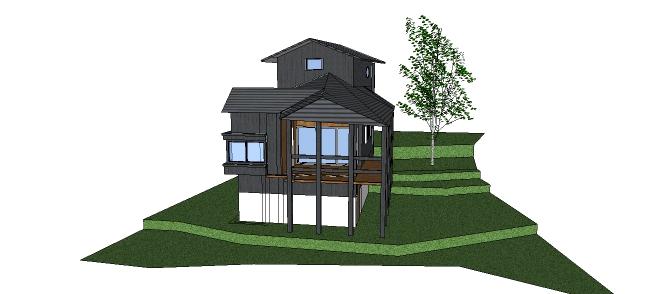 Xây dựng nhà với mẫu thiết kế nhà sàn kiểu mới cách tân