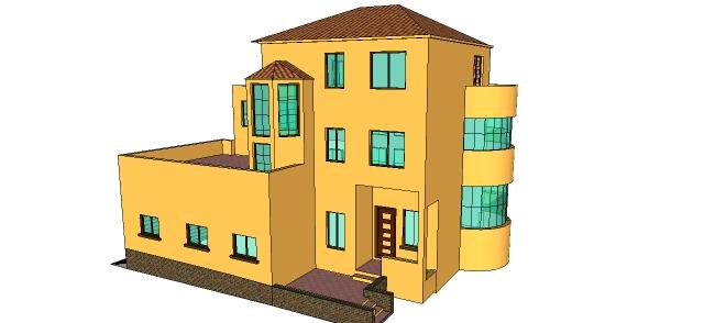 Xây nhà mẫu thiết kế biệt thự 2 tầng 1 tum tuyệt đẹp