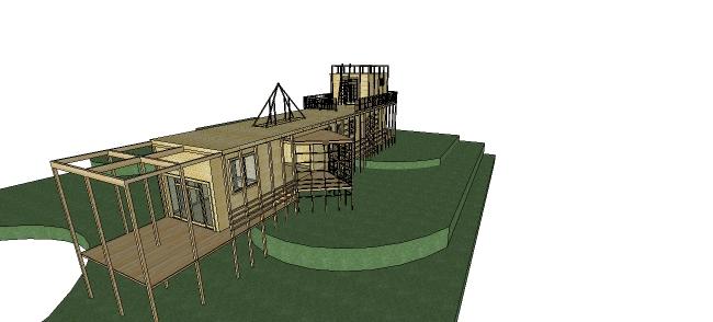 Xây dựng nhà với mẫu nhà sàn từ gỗ đẹp mắt
