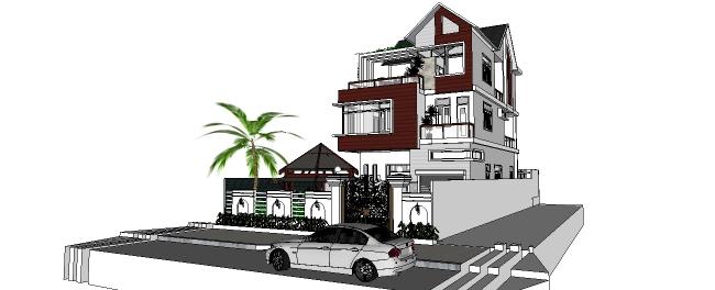 Mẫu nhà biệt thự 3 tầng xu hướng xây dựng nhà hiện đại