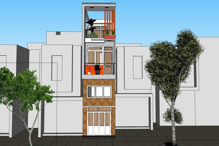 Mẫu nhà phố 3 tầng đẹp lựa chọn xây dựng xu thế hiện nay