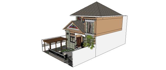 Xây nhà biệt thự mẫu thiết kế kiến trúc 2 tầng phong cách đơn giản