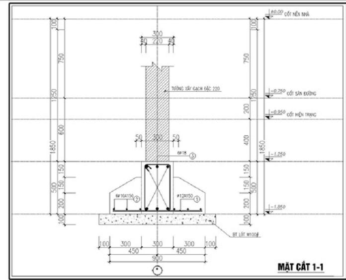 Ban ve mong bang mat cat 1 cho nha 1 tang - Móng băng: Kết cấu, cấu tạo và cách bố trí thép móng băng - kien-thuc-xay-dung