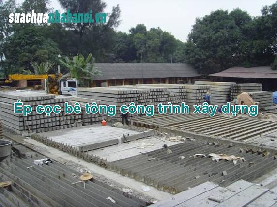 Những điều cần lưu ý khi ép cọc bê tông cho công trình xây dựng