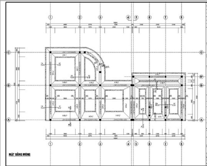 Mat bang mong nha 2 tang - Móng băng: Kết cấu, cấu tạo và cách bố trí thép móng băng - kien-thuc-xay-dung