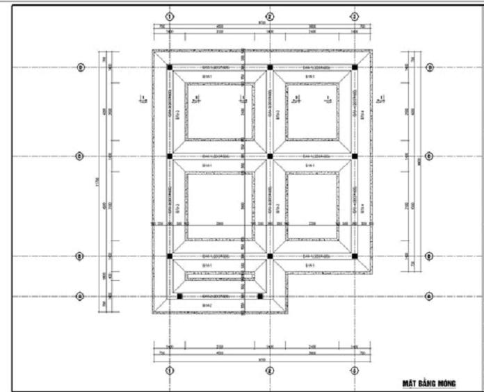 Mat bang mong nha 3 tang - Móng băng: Kết cấu, cấu tạo và cách bố trí thép móng băng - kien-thuc-xay-dung