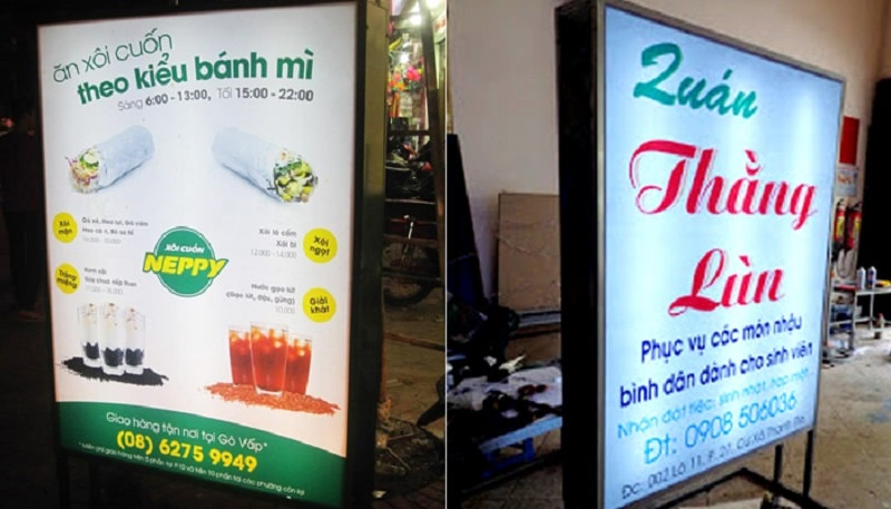 Nhận thi công biển quảng cáo hộp đèn đẹp - giá rẻ tại Hà Nội