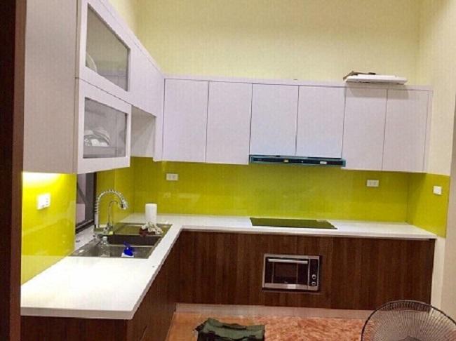 Kính Ốp Bếp Màu Vàng Chanh - Mẫu Kính Bếp Vàng Chanh Giá Rẻ