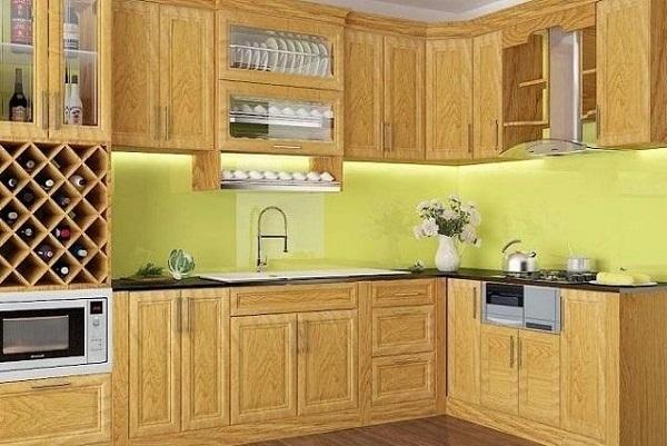 Kính Ốp Bếp Màu Vàng Sữa - Mẫu Kính Bếp Sang Trọng và Đẳng Cấp